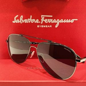 Salvatore Ferragamo Accessories - Ferragamo Sunglasses Style SF174SP Gunmetal